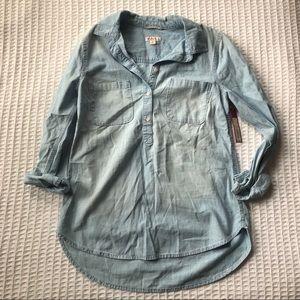 NWT Merona Chambray Button Tunic size Medium